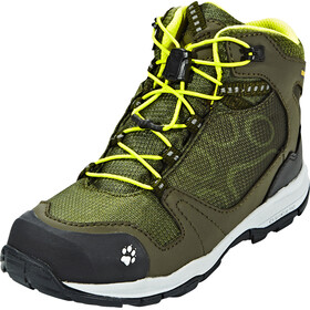 Jack Wolfskin Akka Texapore Hiking Shoes Mid Cut Boys woodland green